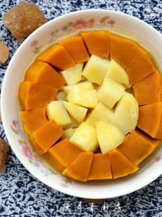 冰糖南瓜蒸土豆的做法