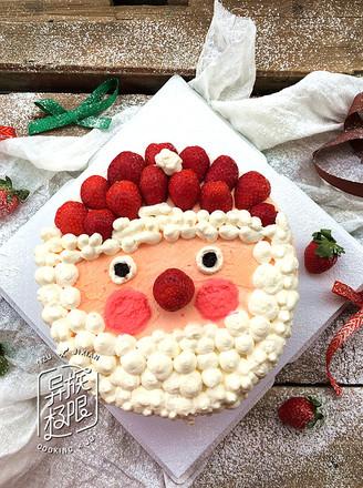 草莓圣诞老人蛋糕的做法