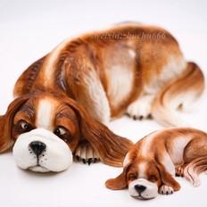 翻糖蛋糕制作—3D狗狗