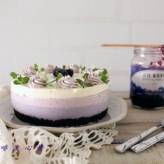 渐变蓝莓冻芝士蛋糕#丘比蓝莓果酱#