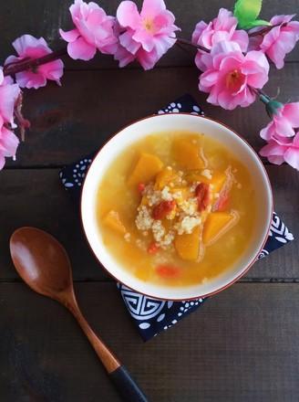 南瓜枸杞小米粥的做法