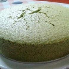 微波炉自制抹茶蛋糕