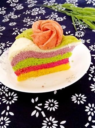 美丽的彩虹发糕的做法