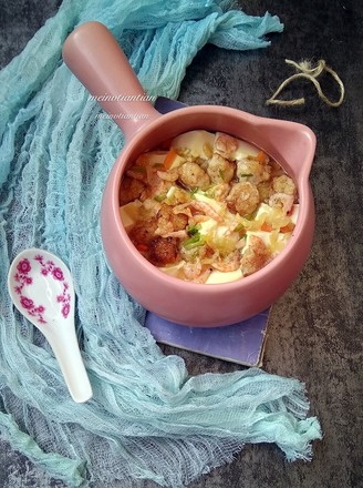 酸菜豆腐和磷虾的做法