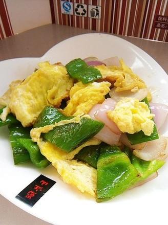 洋葱做法炒鸡蛋的青椒豌豆荚icon图片