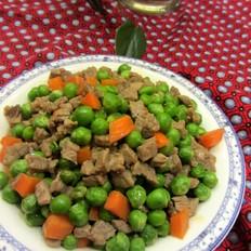 豌豆炒牛肉丁