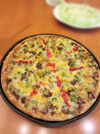 牛肉薄底披萨