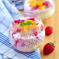 椰奶水果捞#樱花味道#