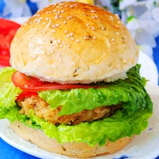 裙带菜素肉汉堡