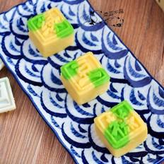 双色绿豆糕