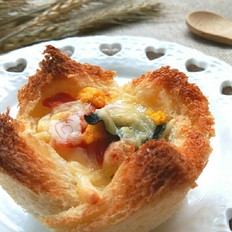 【jasmin趣味烘焙】鲜虾鱼板面吐司盏的做法[图]