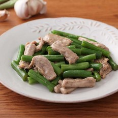 猪肉片炒豆角