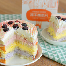 切片面包彩虹水果蛋糕