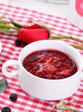 玫瑰冰糖草莓炖的做法