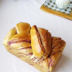 紫薯大理石纹吐司