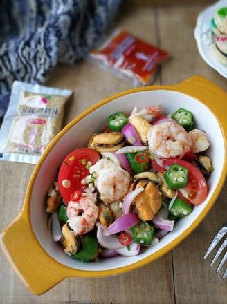 海鲜蔬菜沙拉的做法