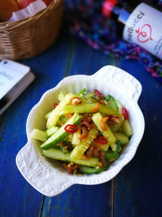 脆口海米拌黄瓜的做法