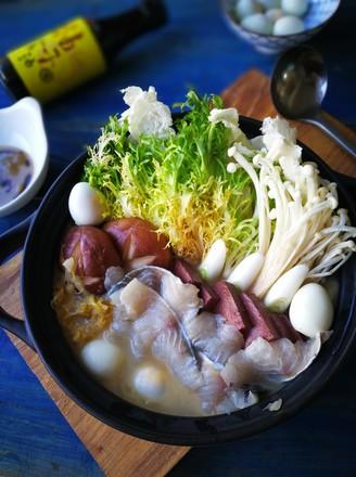 酸菜鲈鱼锅#晚餐#的做法