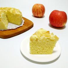 无油无水苹果蒸蛋糕