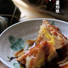 咸蛋黄培根粽子