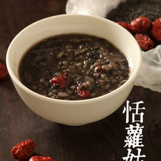 黑芝麻红枣粥