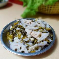 【我的食堂菜】炝炒酸菜脆藕片