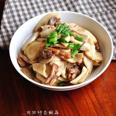 肉丝炒杏鲍菇
