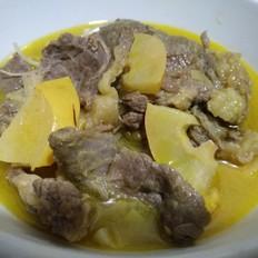 酸木瓜牛肉汤