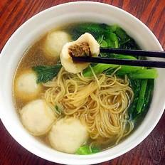 砂锅鱼丸青菜面