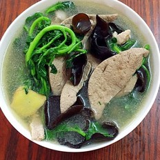 西洋菜木耳猪肝瘦肉汤