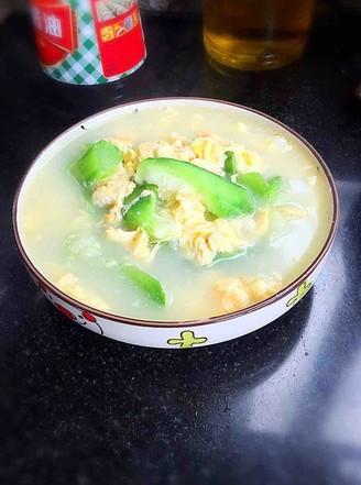 清润补水~丝瓜鸡蛋汤的做法