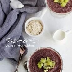 红豆燕麦甜点杯