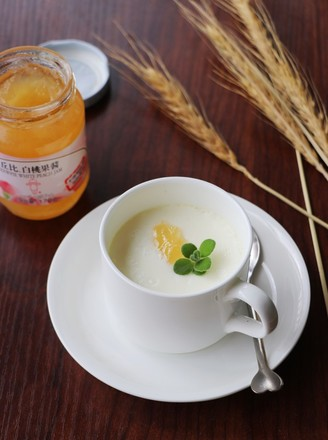 白桃果味双皮奶#丘比果酱#的做法