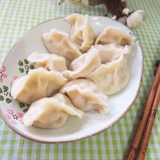 黄瓜虾仁水饺