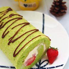 菠菜草莓戚风卷