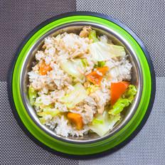 狗狗菜谱:三文鱼炒饭