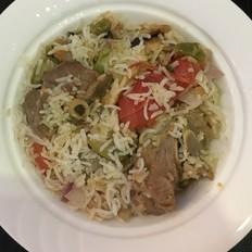 阿拉伯香煎蔬菜羊肉饭