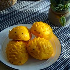 南瓜刺猬豆沙包