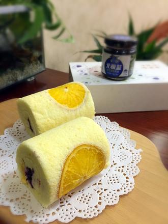 橙香蓝莓蛋糕卷的做法