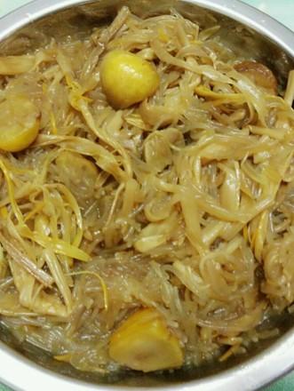 黄花菜板栗炒粉丝的做法
