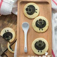 抹茶小羊印花饼干