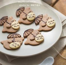 打伞的龙猫饼干