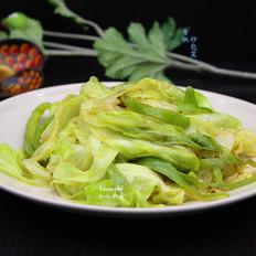 青椒炒包菜