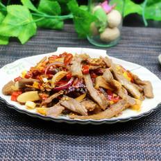 下酒宴客菜,泡椒牛肉