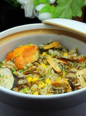大闸蟹焖饭的做法