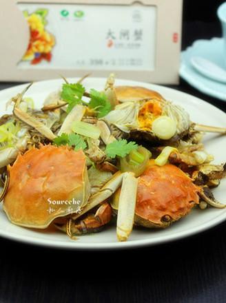 大蒜炒大闸蟹的做法