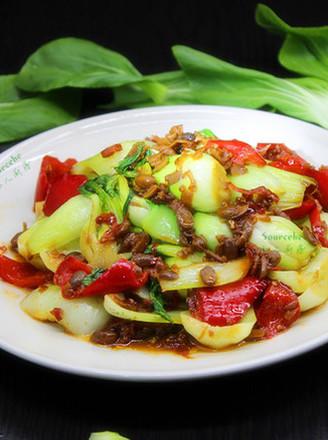 腊八豆炒上海青的做法