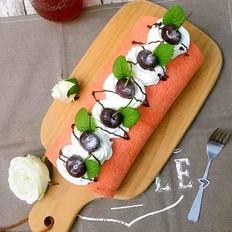 樱桃夹心蛋糕卷#下午茶#