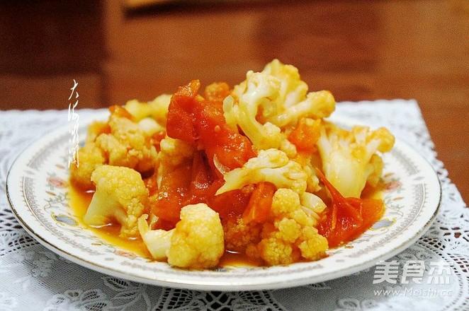 番茄味菜花的做法【步骤图】_菜谱_美食杰