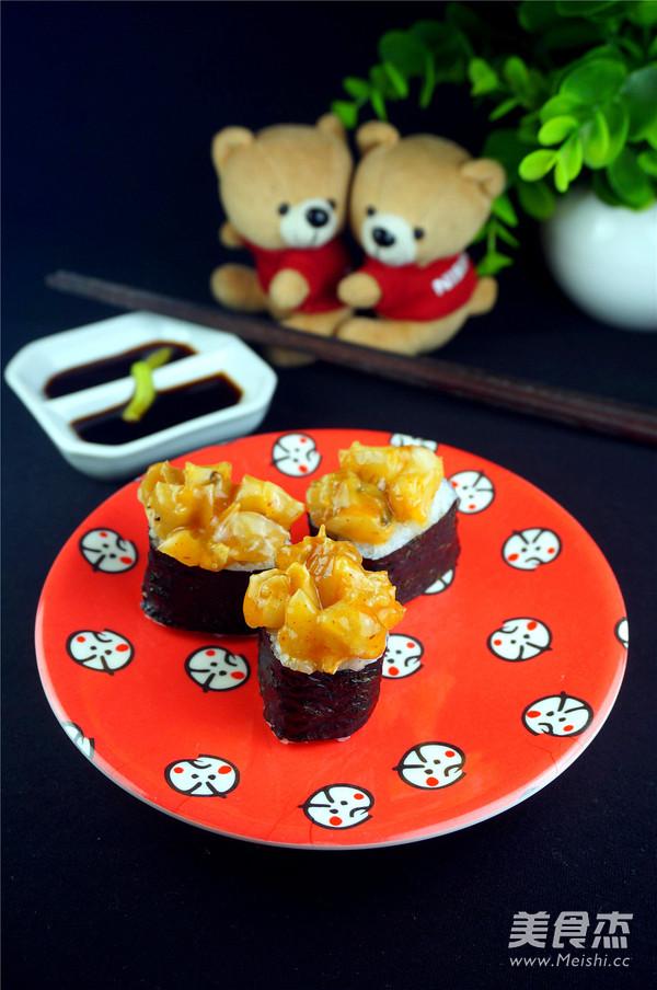 味付海螺寿司的做法_家常味付海螺寿司的做法